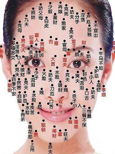 女性面部痣相图解图片