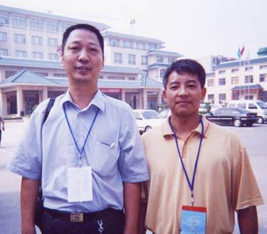 与全球华人联合会主席